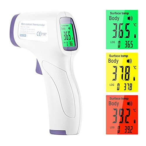 Eventronic Digitales Infrarot-Stirnthermometer Berührungslose hochpräzise Temperaturmessung, mit sofortiger Ablesung für Babys und Erwachsene