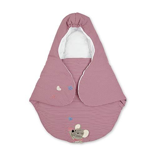 Sterntaler Einschlagdecke, Maus Mabel, Wattiert, Alter: Für Babys ab der Geburt, 75 x 90 cm, Rosa/Mehrfarbig