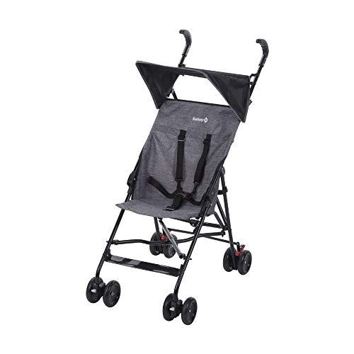 Safety 1st Peps Buggy mit Sonnenverdeck, Wendiger Kinderwagen Nutzbar ab 6 Monate Bis max. 15 kg, Kompakt Zusammenfaltbar, Wiegt nur 4, 5 kg, Black Chic (schwarz)