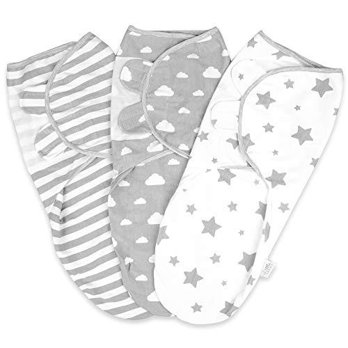 Pucksack Baby 0-3 Monate Baby Decke Pucktuch Baby Für Neugeborene von 0-3 Monate Swaddle Decke aus 100% Bio-Baumwolle