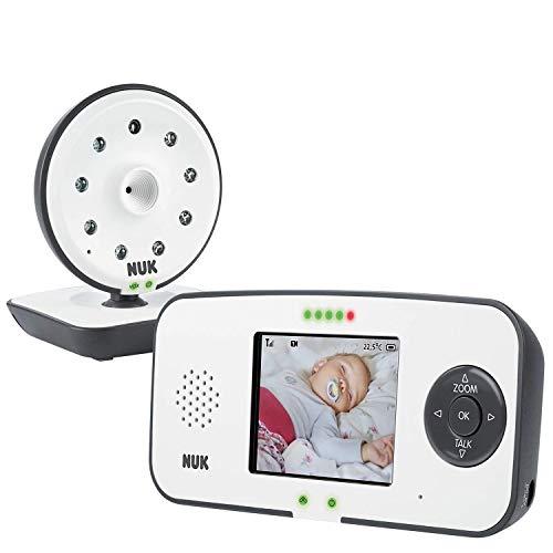 NUK Eco Control 550VD Digitales Babyphone, mit Kamera und Video Display, bis zu 4 Kameras hinzufügbar, frei von hochfrequenter Strahlung im Eco-Mode