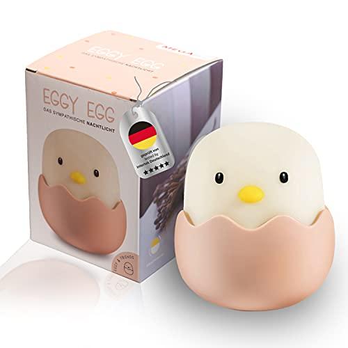 MegaLight LED Nachtlicht Kinder   Nachtlicht Baby ohne verschluckbare Kleinteile   Stillicht dimmbar Touch USB Aufladung   Nachtlampe   Eggy Egg